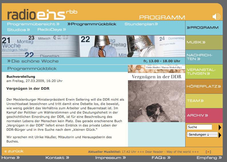 radioeins DDR Panama Verlag