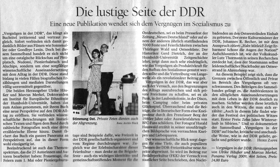 tagesspiegel Vergnügen DDR