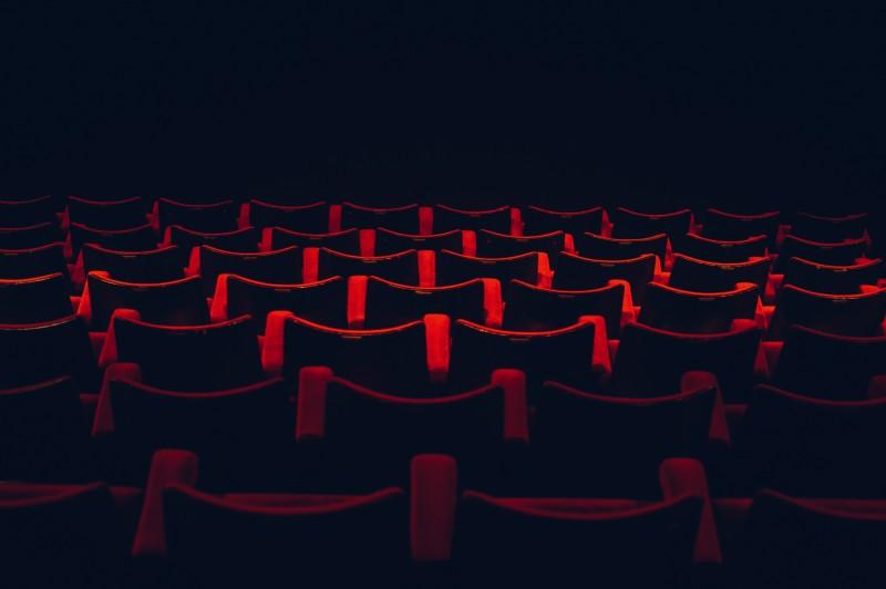 Kino mit Sitzreihen